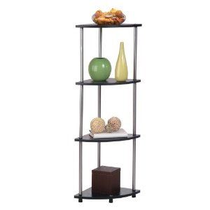 Convenience Concepts 4-Tier Corner Shelf