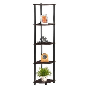 5 Tier Corner Bookcase Shelves