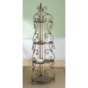 CBK Home 4-tier Corner Rack with Scroll Design