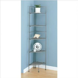 5 Tier Mesh Corner Shelf (Gray)