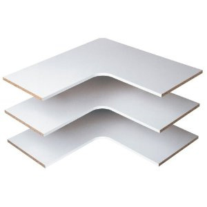 Easy Track RS3003 Corner Shelves, White