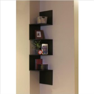 4D Concepts Hanging Corner Storage, Black