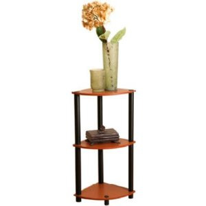 Momentum Furnishings 3-Tier Cherry Corner Shelf