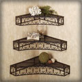 Cheap-Chic Decor Tuscan Wrought Iron Corner Shelves Set