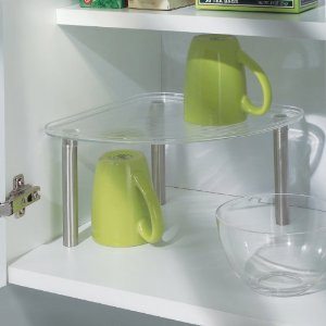 InterDesign Linus Transparent Corner Shelf