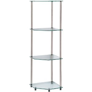 Convenience Concepts Go-Accsense 4 Tier Glass Corner Shelf