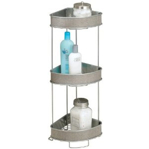 InterDesign Twillo 3-Tier Corner Shelf in Metallico Finish