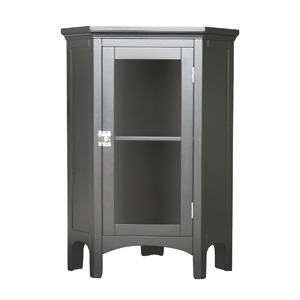 Elegance Home Fashion Corner Floor Cabinet in Dark Espresso